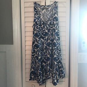 Blue and white Lilly pulitzer dress size large